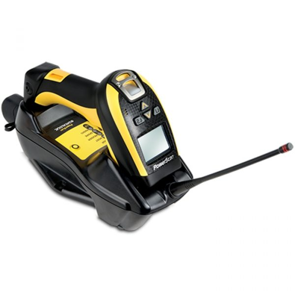 Cititor coduri de bare industriale fara fir Datalogic PowerScan PM9100 433 RB USB KIT