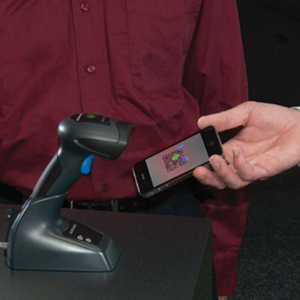 Cititor coduri de bare fara fir Datalogic QuickScan QBT2430, Bluetooth, Kit, USB, 2D Imager, Negru