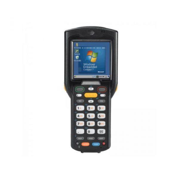 Terminal mobil Zebra MC3200, pistol, 1D-SR, 28 taste, 1GHz, 512MB RAM/2GB FLASH, Wi-Fi, BT, 4800 mAh, Windows CE 7 PRO