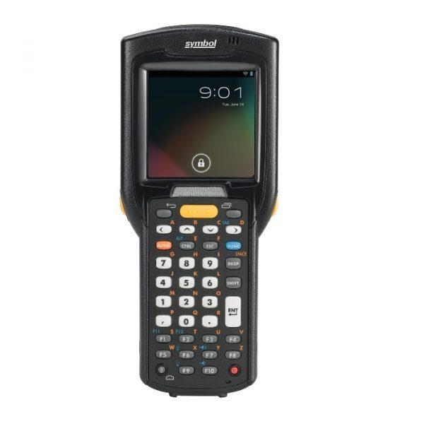 Terminal mobil Zebra MC3200, Pistol, 2D-MR, 38 taste, 1GHz, 1GB RAM/4GB FLASH, Wi-Fi, BT, 4800 mAh, senzori, Windows CE 7 PRO