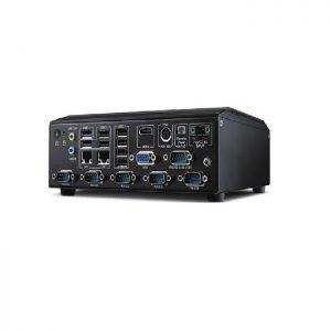 AIMC-2000J-HDA1E (Front Access Fanless Micro Computer,  J1900, VGA/HDMI, 6xRS232, 8 USBs, 4 GB RAM, 128 GB SSD, Win10 IoT Enterprise)