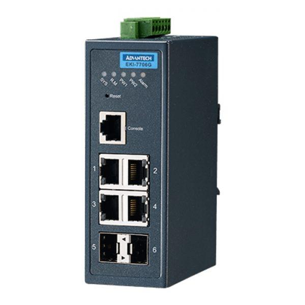 EKI-7706G-2F-AE (4GE+2G SFP Managed Ethernet Switch)