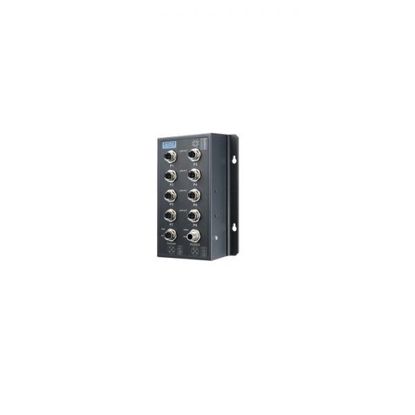 EKI-9508G-ML (EN50155 8-Port M12 Managed Ethernet Switch 24/48 VDC)