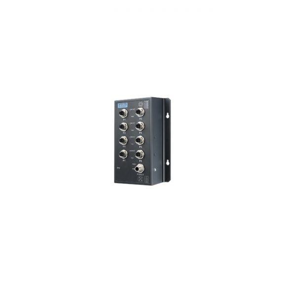 EKI-9508G-PL (EN50155 8-Port M12 PoE Unmanaged Ethernet Switch 24/48 VDC)