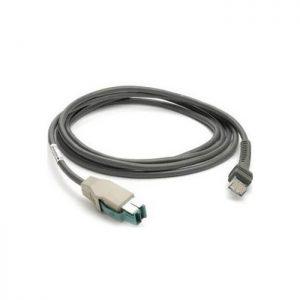 Cablu USB ecranat, conector Power Plus, 4,6m, spiralat, 12V