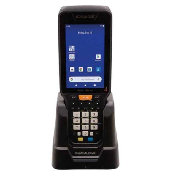 Terminal mobil Datalogic Skorpio X5 Pistol grip, 2D, Wi-Fi, BT, NFC, MR, 2,2GHz, 3GB RAM/32GB Flash, 28 taste Numerice, Green Spot, hand-strap, Android 10