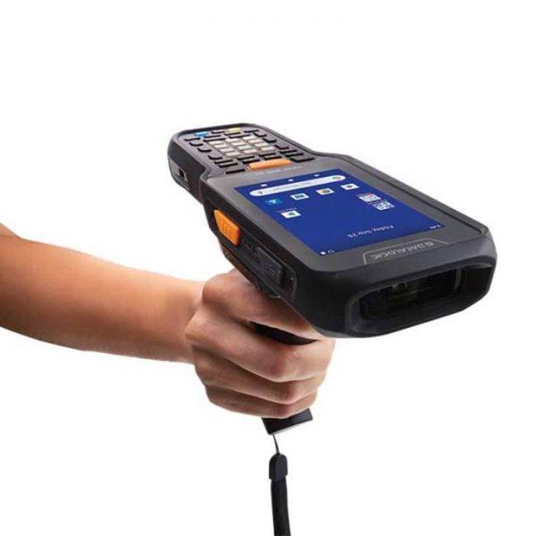 Terminal mobil Datalogic Skorpio X5 Pistol grip, 1D, Wi-Fi, BT, NFC, 2,2GHz, 3GB RAM/32GB Flash, 38 taste Functional Numerice, Green Spot, hand-strap, Android 10