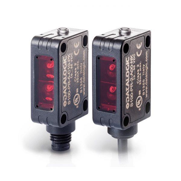 Senzor Datalogic S100-PR-5-B00-PK = Reflex polarized short distance plastic radial pnp l/d input  -  M8