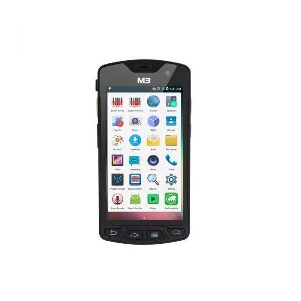 Kit M3Mobile SM15X - Terminal mobil SM15X, incarcator, sursa alimentare, protectie ecran, stylus, maner declansare