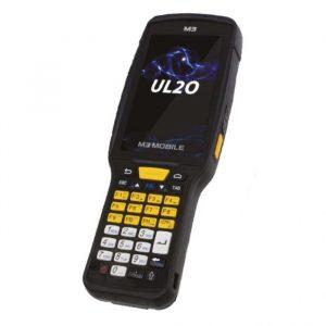 Kit M3Mobile UL20X cu modul scanare raza lunga - Terminal mobil UL20X, incarcator, sursa alimentare, protectie ecran, stylus, maner declansare